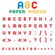 ABC colored font from paper tape — Stock Vector #4295114