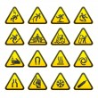 Set Simple of Triangular Warning Hazard Signs — Stock Vector #4404273