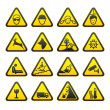 Warning Safety Signs Set — Stock Vector