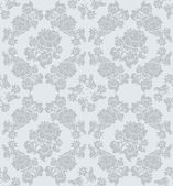 Seamless ornament floral, gray — Stock Vector