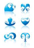 Symbols of water — Stock Vector
