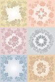 Set floral background — Vetorial Stock