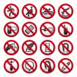 Prohibited Signs — Stock Vector #5268862