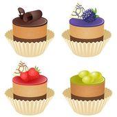 Vector cupcakes — Stock Vector