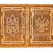 Cover for Russian passport — Stock Photo