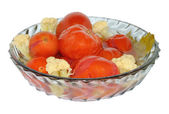 Marinated tomatoes with cauliflower — Stock Photo