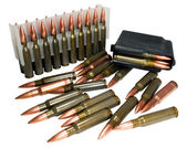 Hunting cartridges of caliber .308 Win — Stock Photo