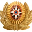 Cockade EMERCOM of Russi(Emergency Control Ministry of Russia). — Stock Photo #5240894