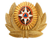 Cockade EMERCOM of Russia (Emergency Control Ministry of Russia). — Stock Photo