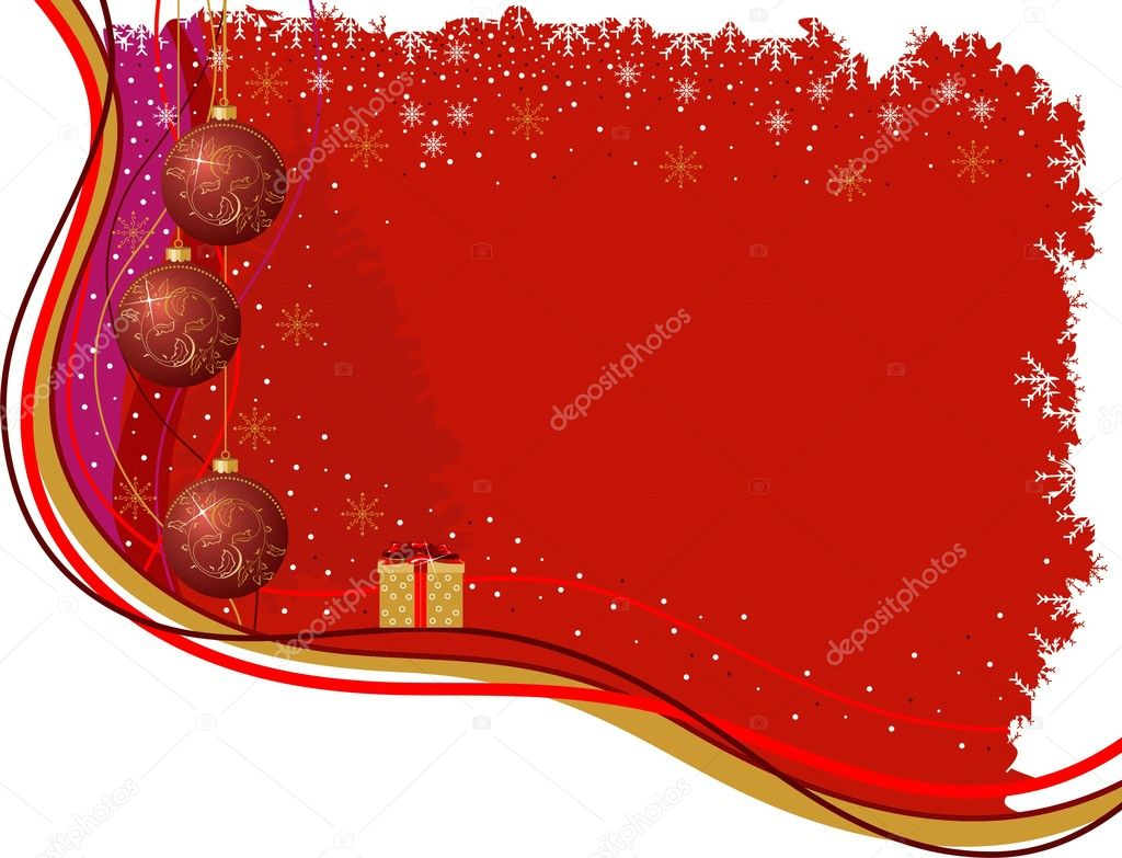 Christmas red background for your text.  — Stock Vector #4190690