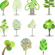 Stylized trees — Stock Vector #4743380