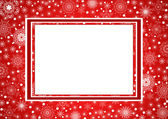 Red Christmas Frame — Stock Vector