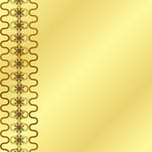 Gold Frame On A Gold Background — Stockvector