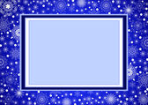 Blue Christmas Frame_5 — Stock Vector