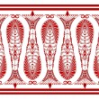 Stok Vektör: Admirable Claret Pattern on White Background