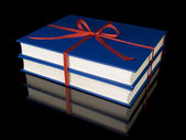 Two blue books — Stock Photo
