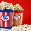 Stock Photo: Two popcorn buckets