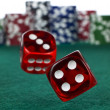 Stock Photo: Betting with dices
