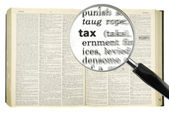 Searching for TAX — Stock Photo