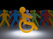 Disabled paper figure — Stockfoto