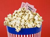 Popcorn and movies — Stock Photo