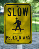 Slow pedestrians — Stock Photo