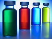 Row of vials — Stock Photo