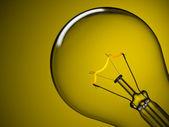 黄色の上の電球 — ストック写真