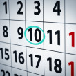 date on the 10th — Stock Photo