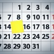 Royalty-Free Stock Photo: Blank sticky note on a calendar