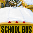 School bus parking - Stock Photo
