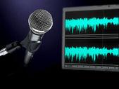Microphone on recording studio. — Stock Photo