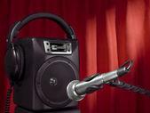 Singer speaker — Stock Photo