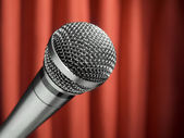 Mic on stage — Stock Photo