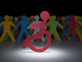 Disabilitare la figura di carta — Foto Stock