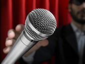 Grab the mic — Stock Photo