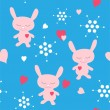 Royalty-Free Stock Vector Image: Rabbits seamless
