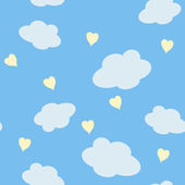 Hearts and clouds — Stock Vector