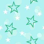 Green stars. Seamless — Stock Vector