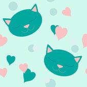 Kitten seamless — Stock Vector