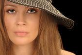 Beautiful Woman in Hat — Stock Photo