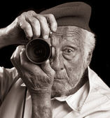 Senior Photographer — Stock Photo