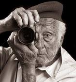 Fotografo senior — Foto Stock