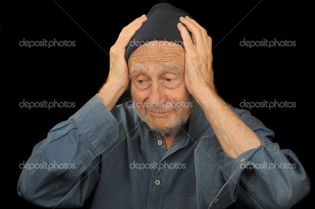 Striking Image of a senior man Very Upset — Stock Photo #3954581