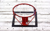 Old basketball hoop — Stockfoto