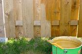 Boyalı çit — Stok fotoğraf