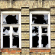 Two broken windows — Stock Photo