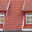 Roof windows — Stockfoto