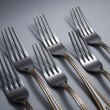 Stock Photo: Metal forks
