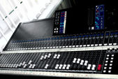 Large mixing console — Stock Photo